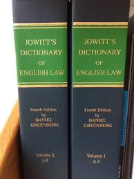 Jowitts dictionary