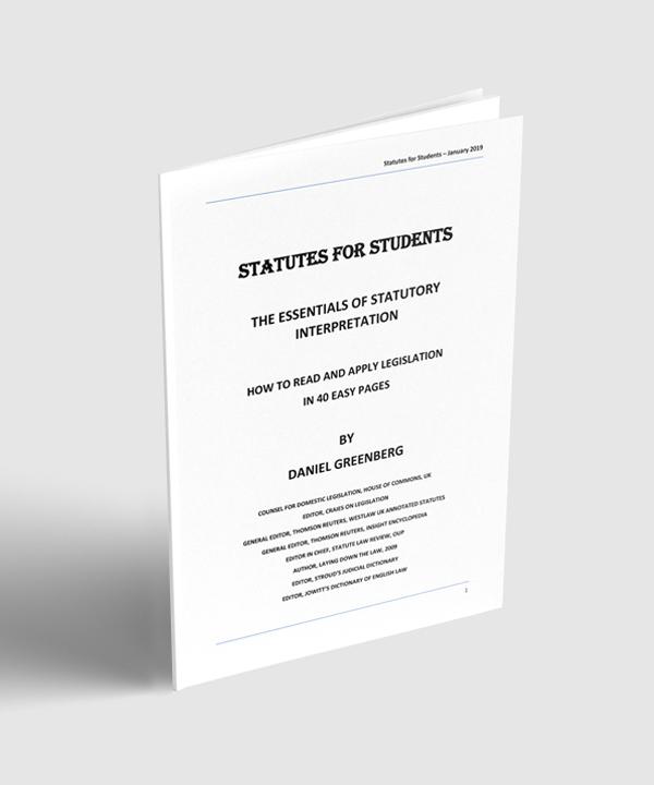 Daniel Greenberg Statutes for Students book